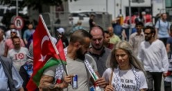 Zulme Lanet Kudüs'e Destek mitinginde mahşeri kalabalık