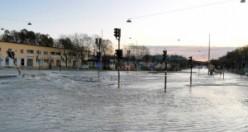 Stockholm'ü su bastı