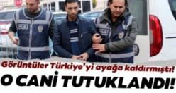 Sokak ortasında eşini döven koca tutuklandı
