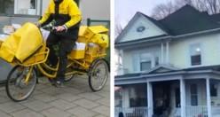 Kargocu evin kapısını yumruklayarak çaldı – Ev sahibi dışarıya çıkınca çığlık attı