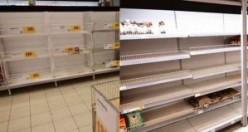 İsveç'te koronavirüs paniği! Market rafları boşaltıldı