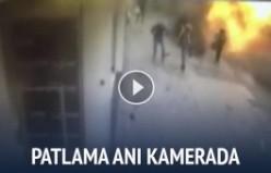 Taksim'de patlama anı kameralarda