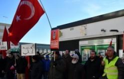 Stockholm'de Kayseri'deki terör saldırısı protesto edildi