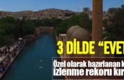 3 Dilde 'EVET' klibi izlenme rekoru kırdı