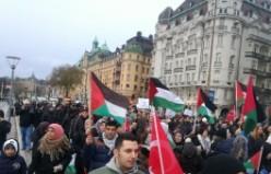 İsveç'te Filistin ve Kudüs'e özgürlük İsrail ve ABD'ye lanet yağdı