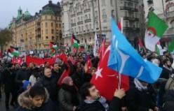 İsveç'te binlerce Müslüman Kudüs için özgürlük istedi