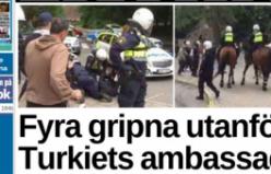 İsveç polisiyle PKK yandaşları arasında arbede