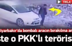 Diyarbakır'da bombalı aracın bırakılma anı