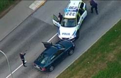 Stockholm'de polisin şüpheliyi vurma görüntüleri