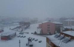 KULU'da Kar yağmaya başladı