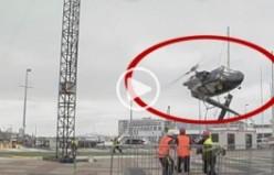 Helikopter pervanesi tele takılırsa...