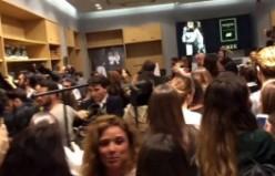 Mağaza açılışında ünlüler birbirine girdi