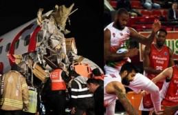 Bahçeşehir Koleji sporcuları, pist dışına çıkan uçaktaydı