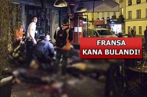 Fransa'da dehşete düşüren kanlı saldırıların ilk görüntüleri
