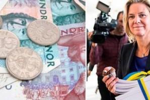 İsveç hükümeti sonbahar bütçesini sunuyor