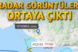 Pistten çıkan uçakla ilgili radar görüntüleri ortaya çıktı