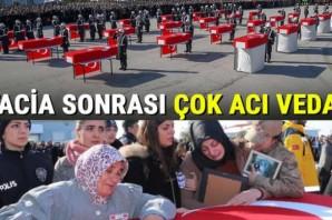 Türkiye Çığ şehitlerini uğurluyor