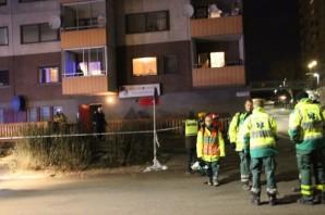 Fittja Türk Kültür Derneğine bombalı saldırı görüntüleri