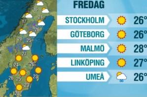 İsveç en sıcak gününü yaşıyor