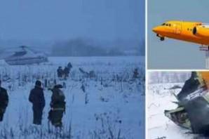 71 kişinin öldüğü korkunç uçak kazasından ilk görüntüler!