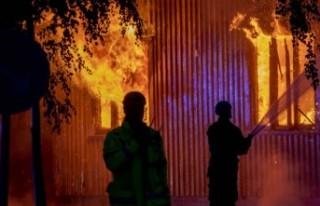 İsveç'te süper villa kül oldu