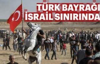 İsrail sınırına akın eden Filistinliler, Türk...
