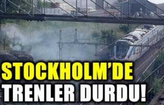 Stockholm'de trenler durdu trafikte aksamalar...