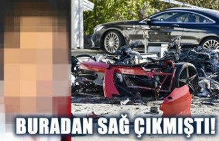 İsveç'te kiralık Ferrari'yi parçalayıp...
