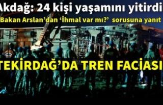 Tekirdağ Çorlu'daki tren kazasından acı haber:...