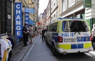 Stockholm'ün en turistik bölgesi Gamlastan'da...