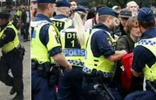 İsveç polisi ırkçılarla çatıştı