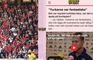 İsveç'te yaşayan gurbetçiler İsveçli futbolcuları...