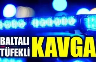 İsveç'te baltalı tüfekli kavga!