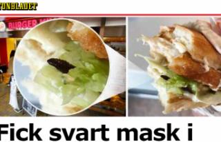 Stockholm'de ünlü markanın hamburgerinden...