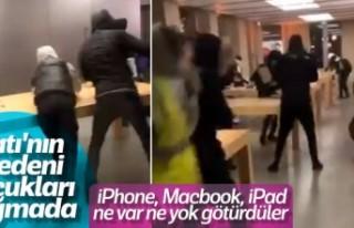 Fransızlar Apple mağazasını talan edip tüm ürünleri...