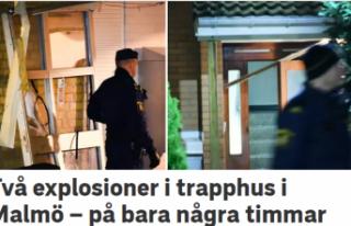 Malmö'de iki evde patlama