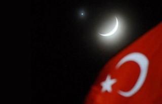 Stockholm'de ay ile Venüs gezegeninin gökyüzünde...