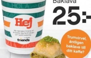 İsveç'te ünlü marketlerde Türk baklavasının...