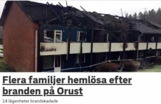 İsveç'te binaları yanan 27 aile evsiz kaldı