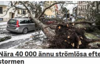 İsveç'te bir çok eve elektrik verilemiyor