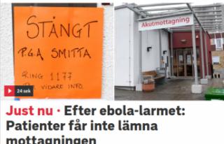 İsveç'te 'Ebola Virüsü' Paniği