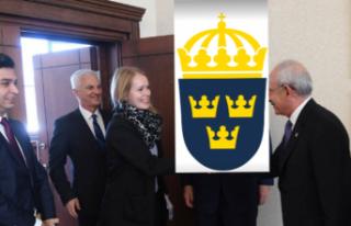 Kılıçdaroğlu İsveç Büyükelçiliği'nde