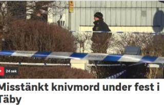 Stockholm'de bir kişi partide öldürüldü
