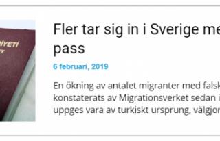 İsveç'e Sahte Türk Pasaportuyla İltica Edenler...