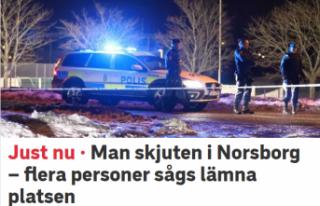 Norsborg bir kişi vuruldu