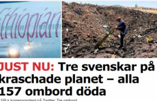 Düşen uçakta bulunan 3 İsveçli hayatını kaybetti
