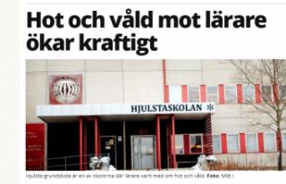 Stockholm'de öğretmenlere şiddet iki misli...