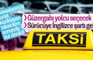 İstanbul Havalimanı'ndaki taksicilere İngilizce...