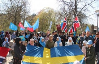 İsveç'te Çin zulmü protesto edildi