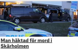 Skärholmen'de cinayetten bir kişi tutuklandı
